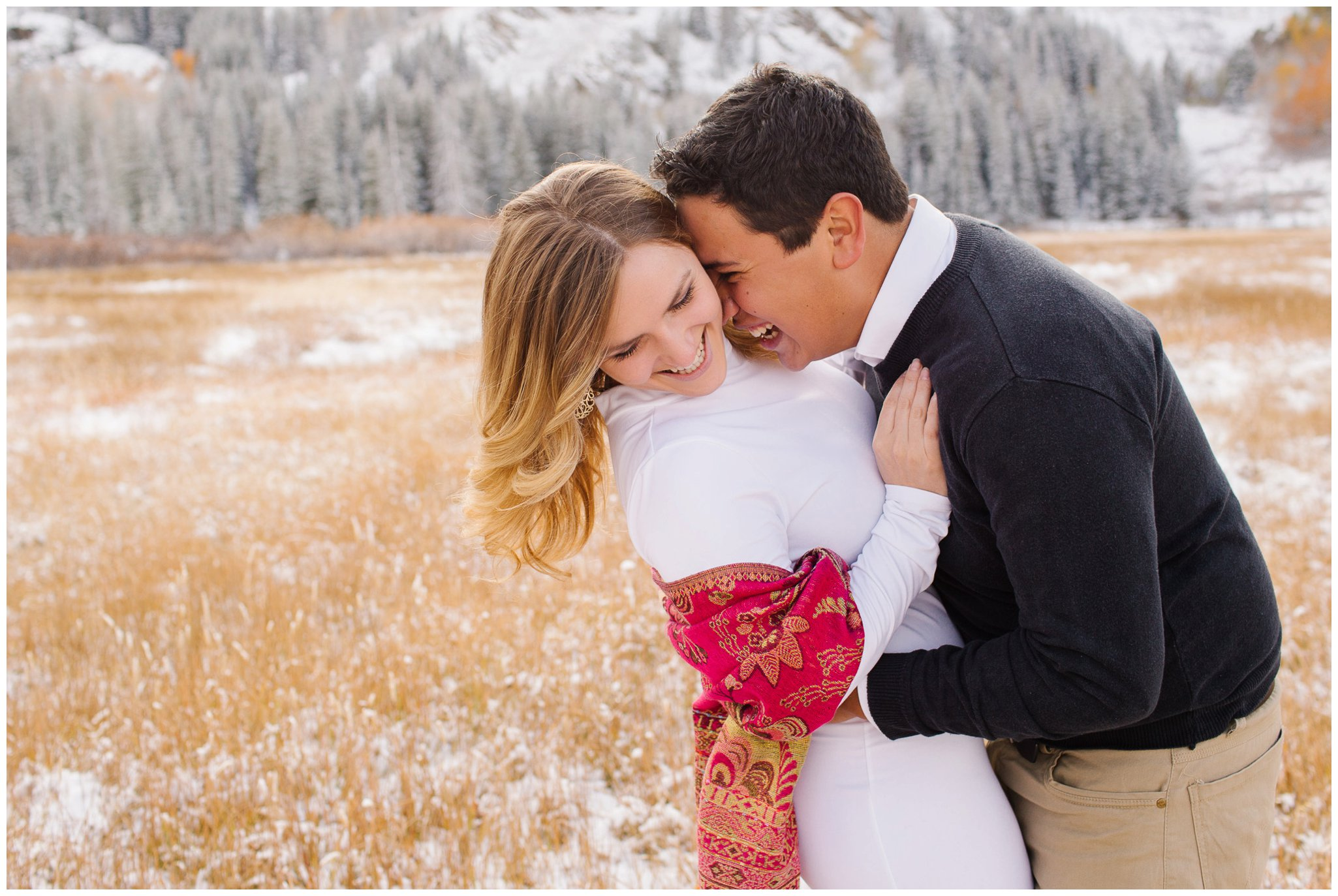 Jamie Tervort Photography | Emily and Natha Engagements, Utah engagement photographer, snowy winter pictures, Silver Lake, Ut