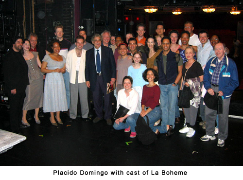 Placido Domingo came to the show.