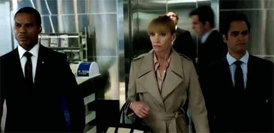 Secret Service escort Toni Collette