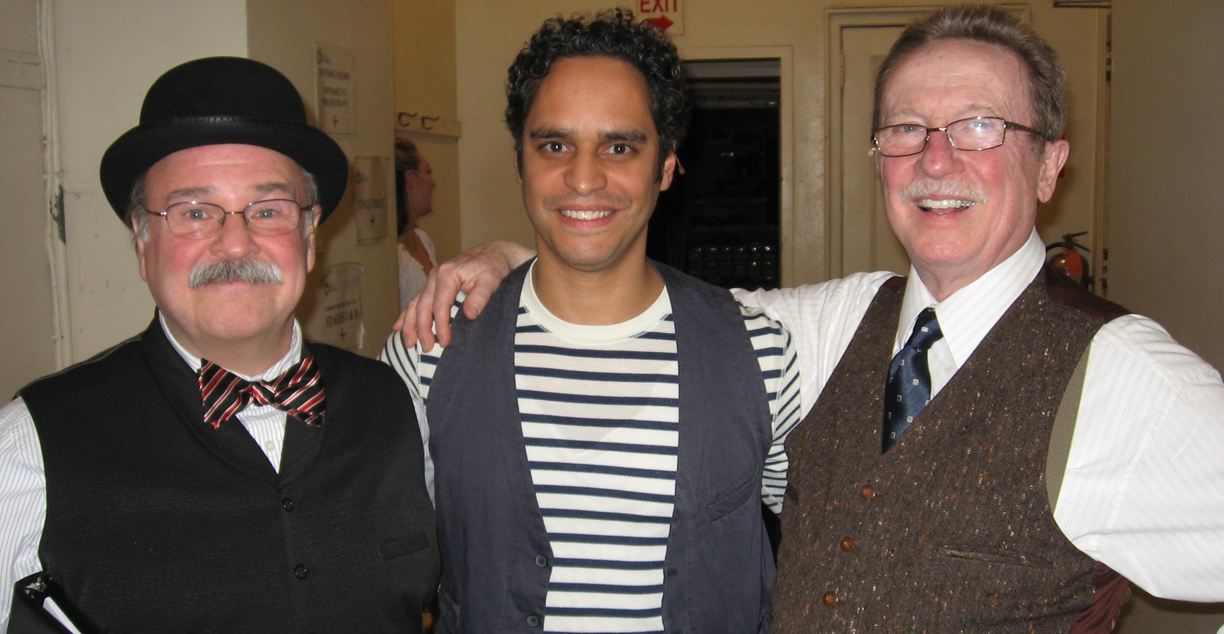 With Fred Applegate and George Hearn