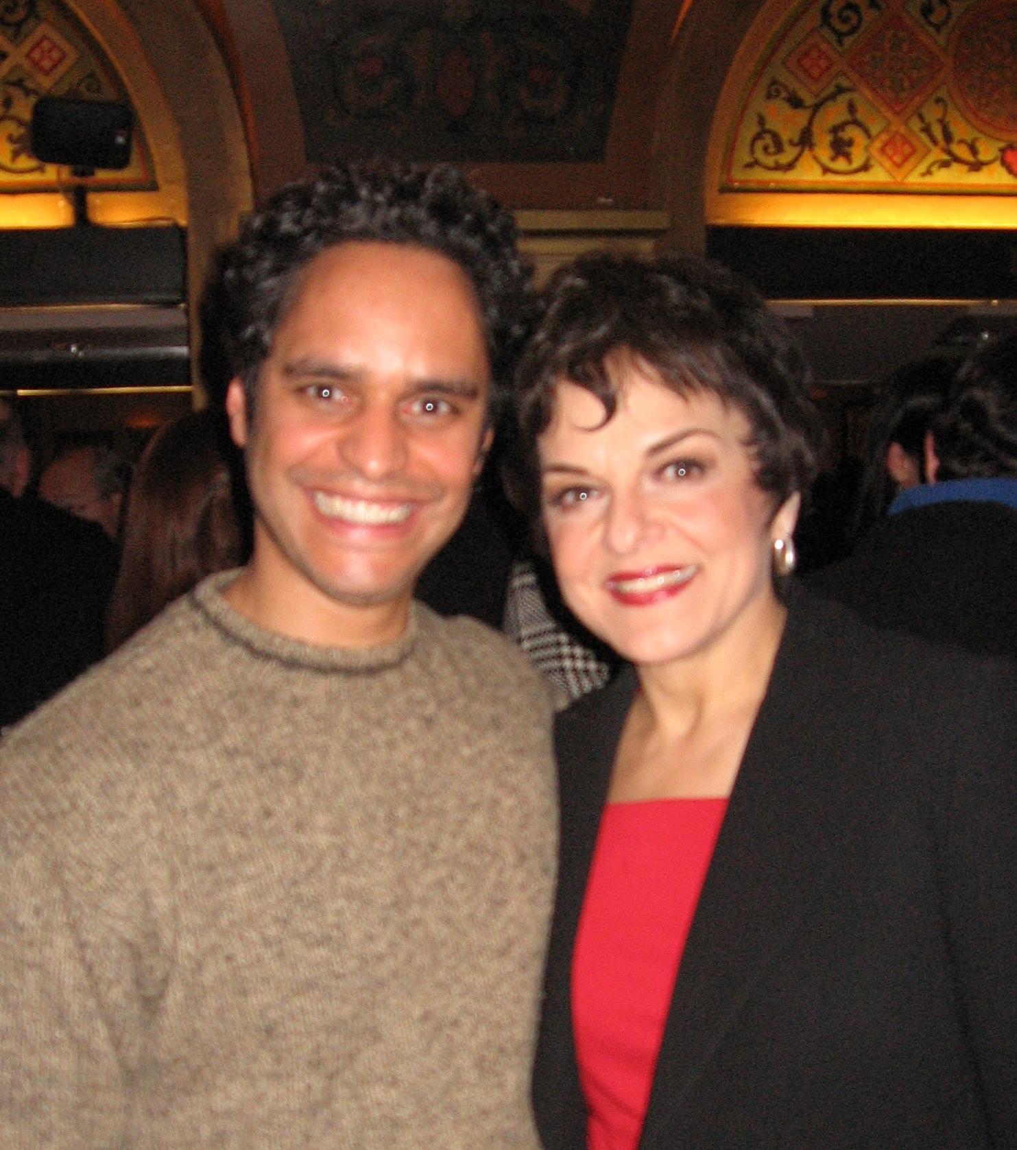 With Priscilla Lopez