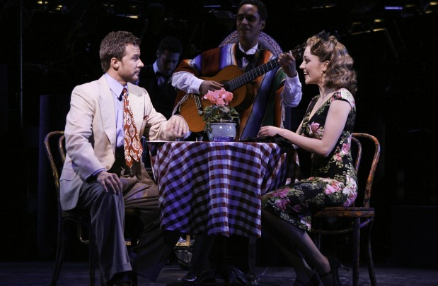Esteban serenades Will Chase and Laura Osnes