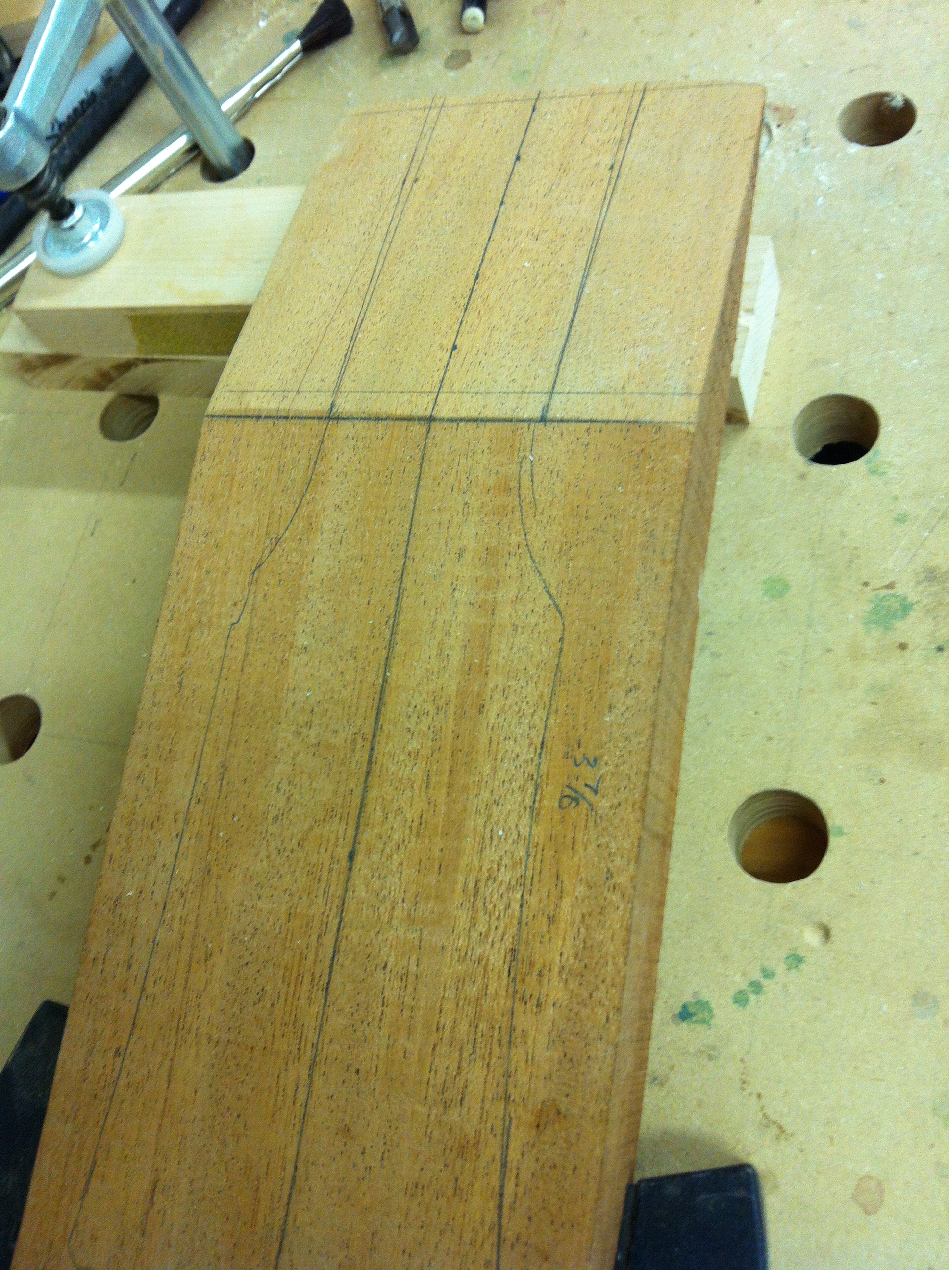 New headstock blank for Anderson's Les Paul