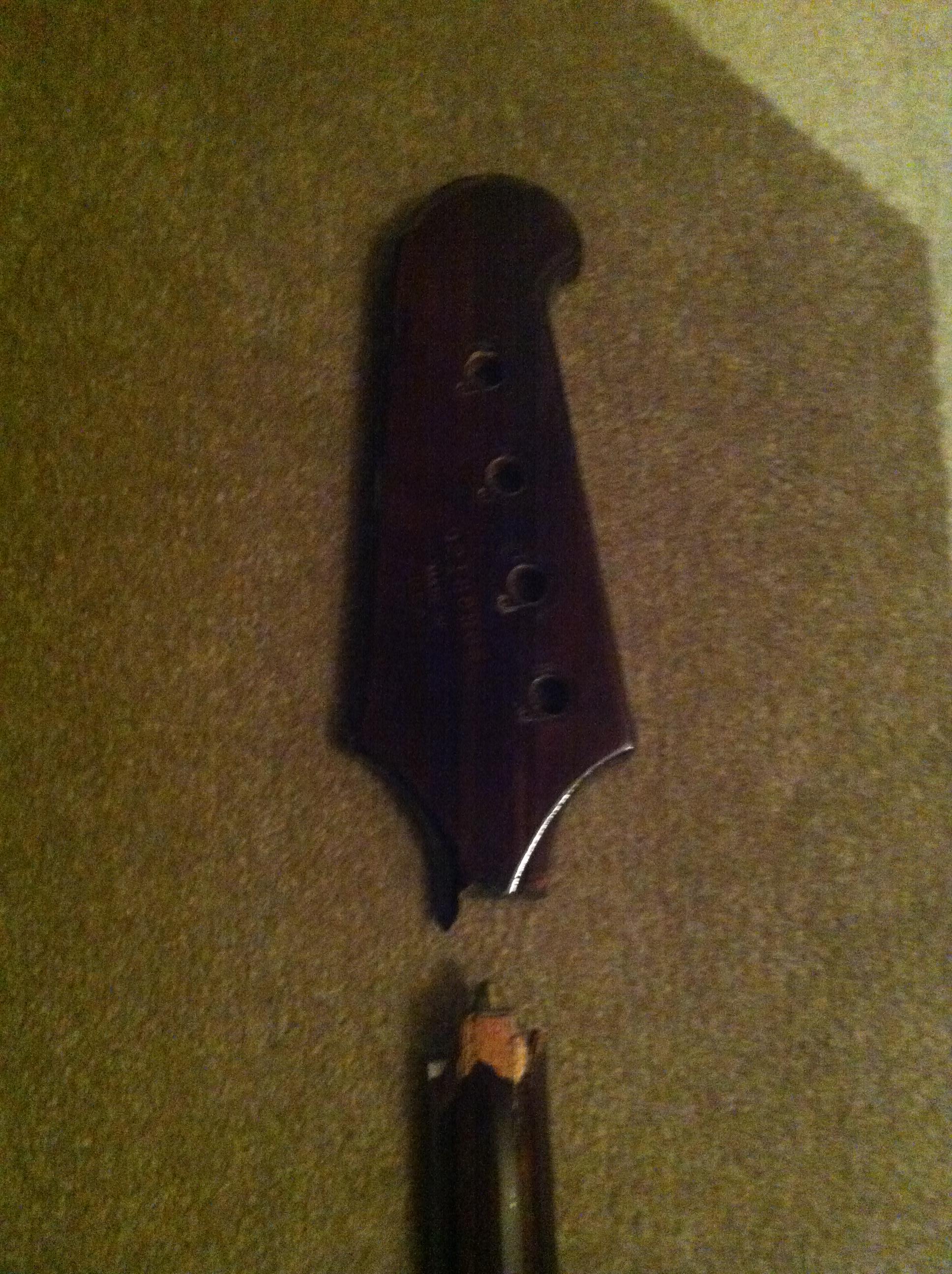 Gibson Thunderbird Bass headstock replacement