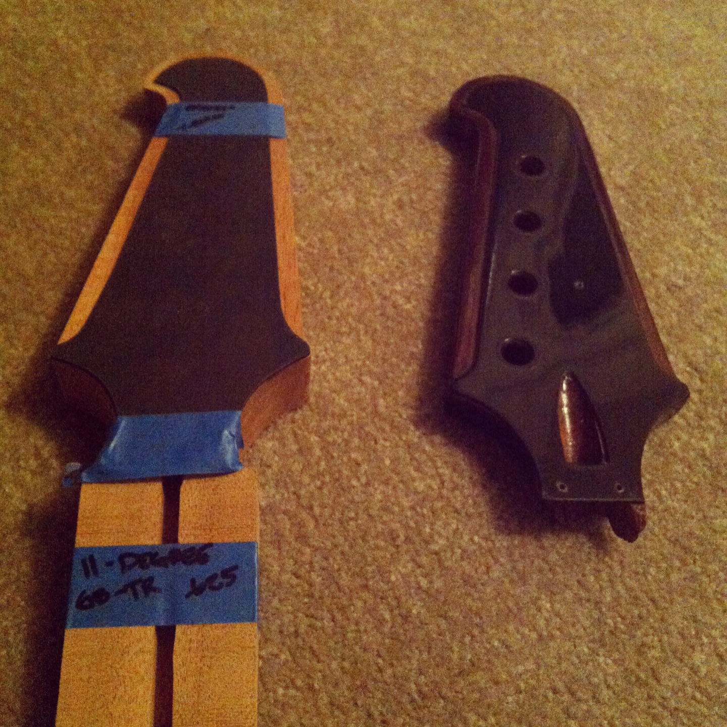 New headstock rough cut out