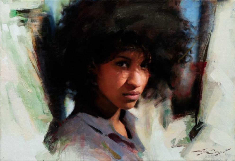 """""""Ana"""" 16x24 oil on canvas"""