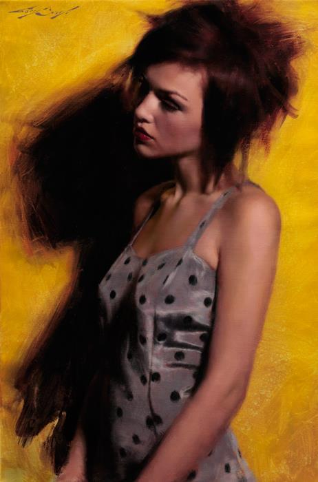 """Polka-dot Dress"" 16x24 oil on canvas"