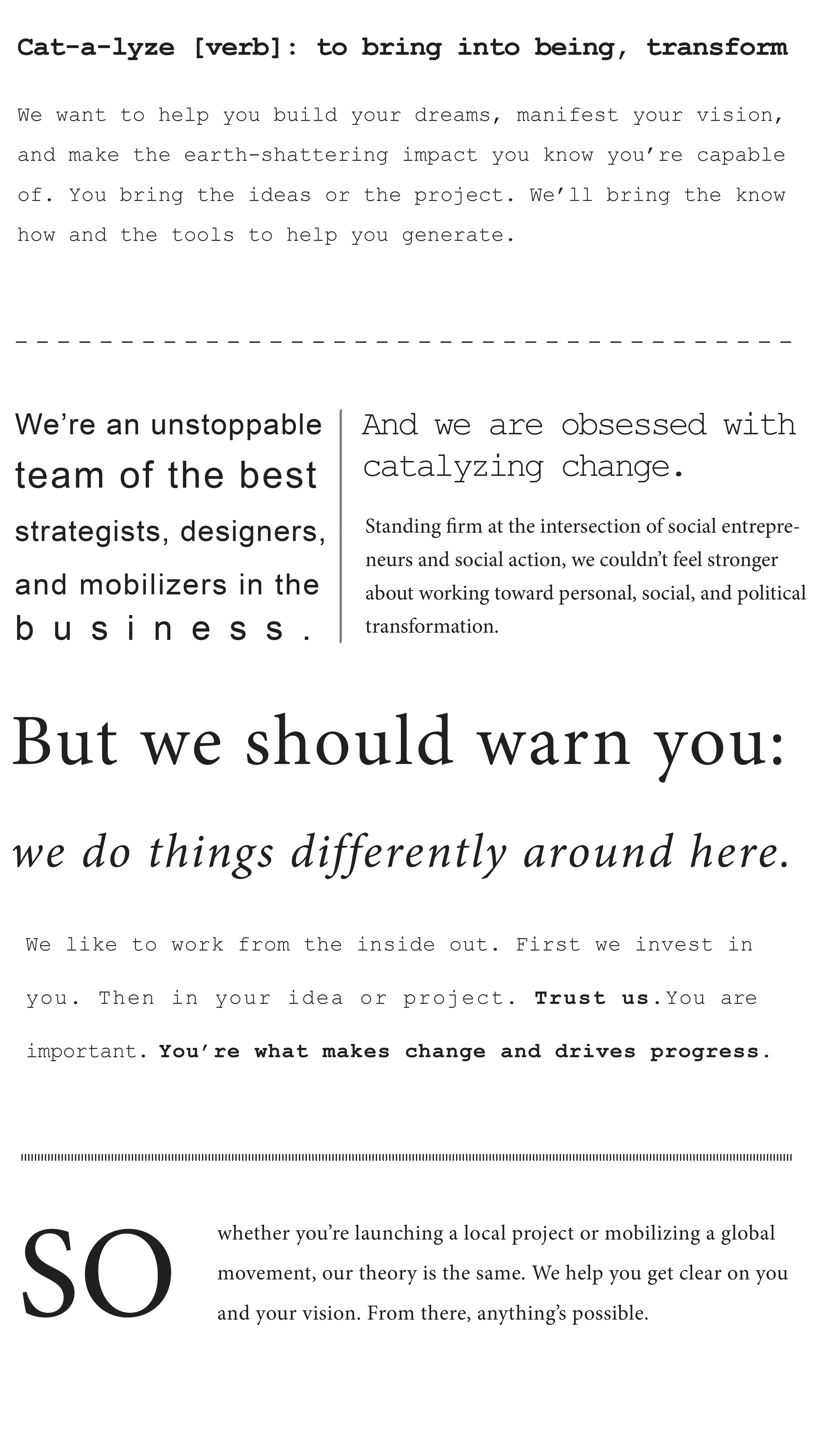 catalyst manifesto
