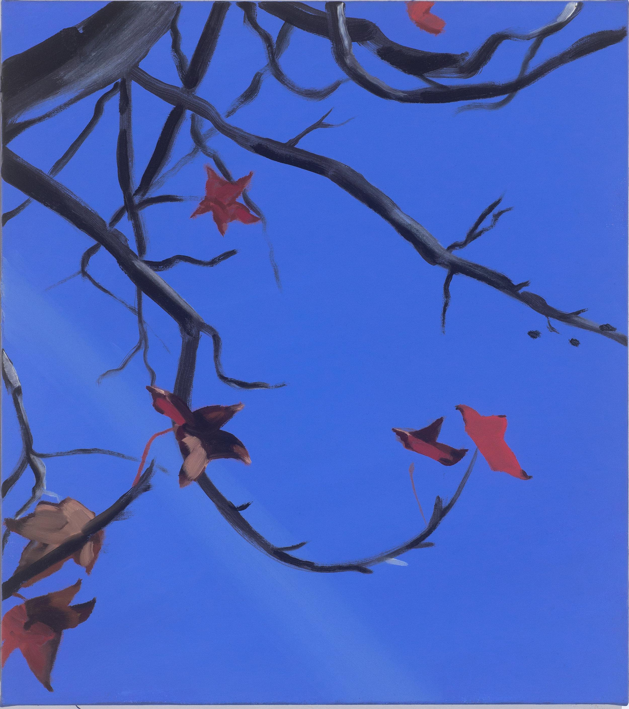 Autumn Sky, oil on canvas, 46x41 cm
