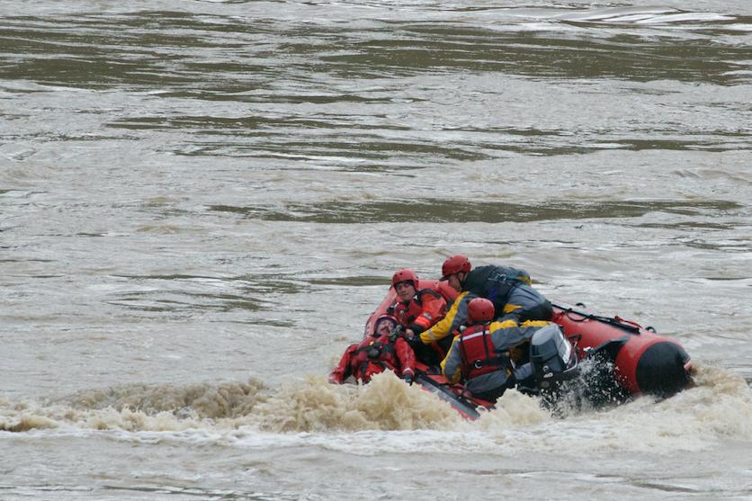 December 12th, 2014. Forestville Fire Department practicing their swift water rescue skills below Hacienda Bridge on the Russian River.