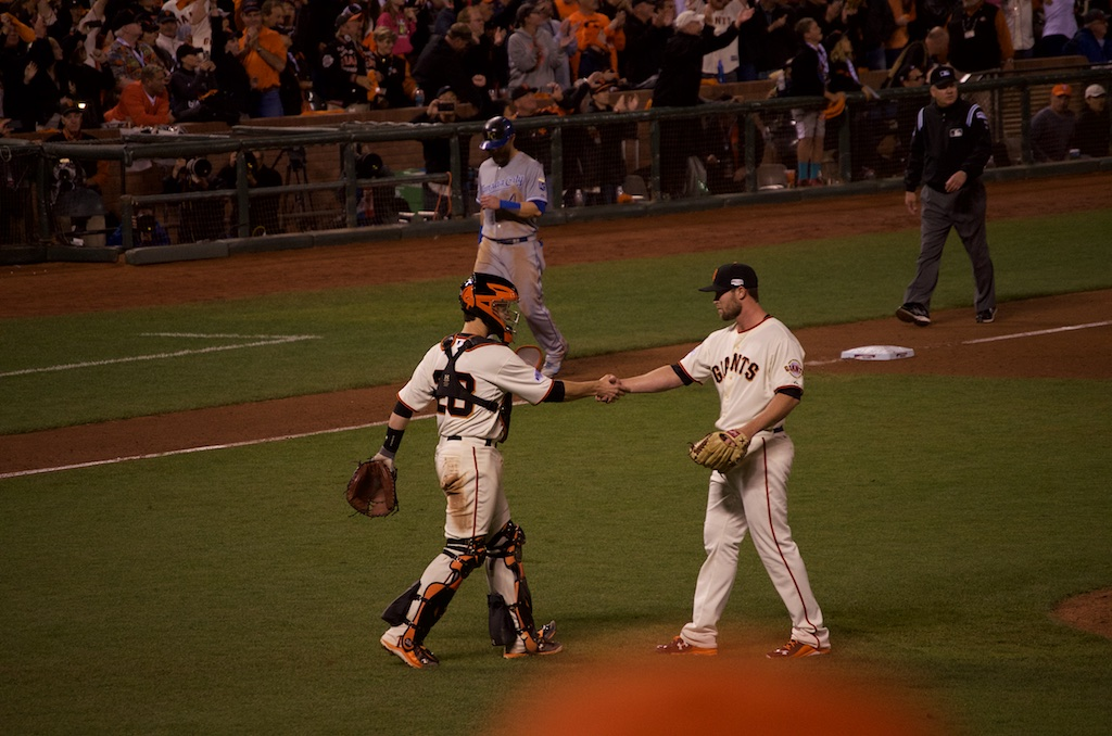 Posey/Strickland Game 4 World Series Win, 2014, AT&T Park, San Francisco, CA