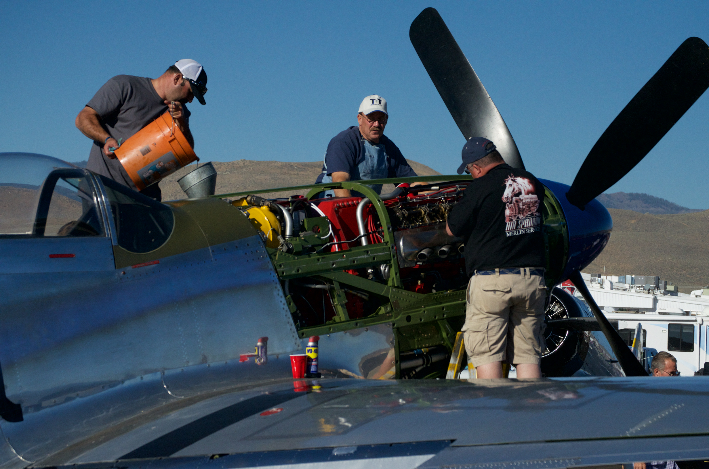 Race Prep. Reno Stead Airport, National Championship Air Races 2015