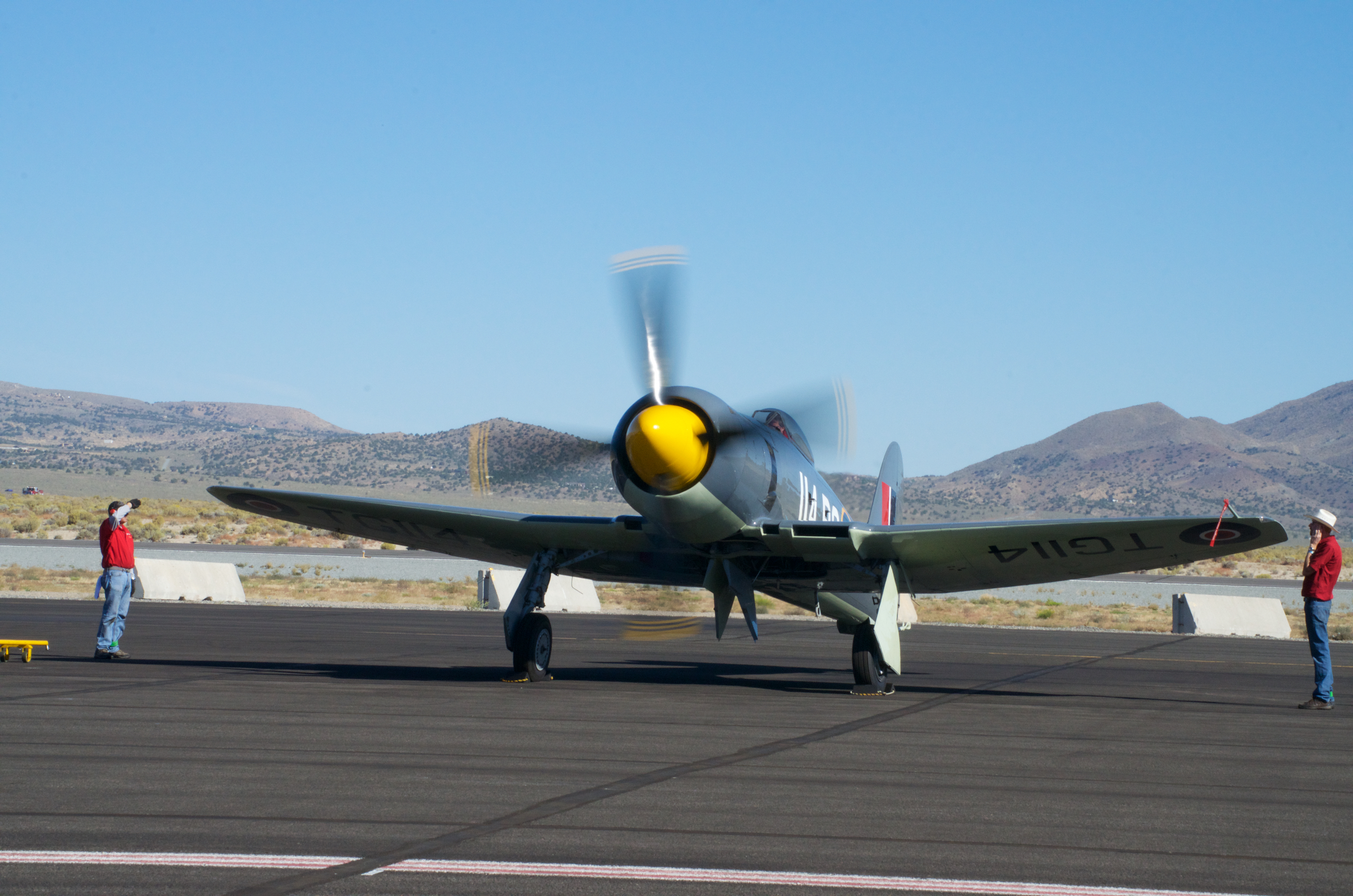 Argonaut, Hawker Sea Fury, Reno Stead Airport, National Championship Air Races 2015