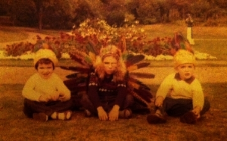 My brothers and I--pirates in disguise (notice Jonathan's eye patch).