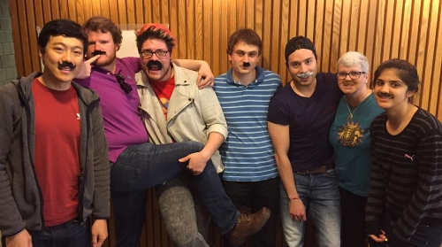 Math Grad Students Fake Mustache Day