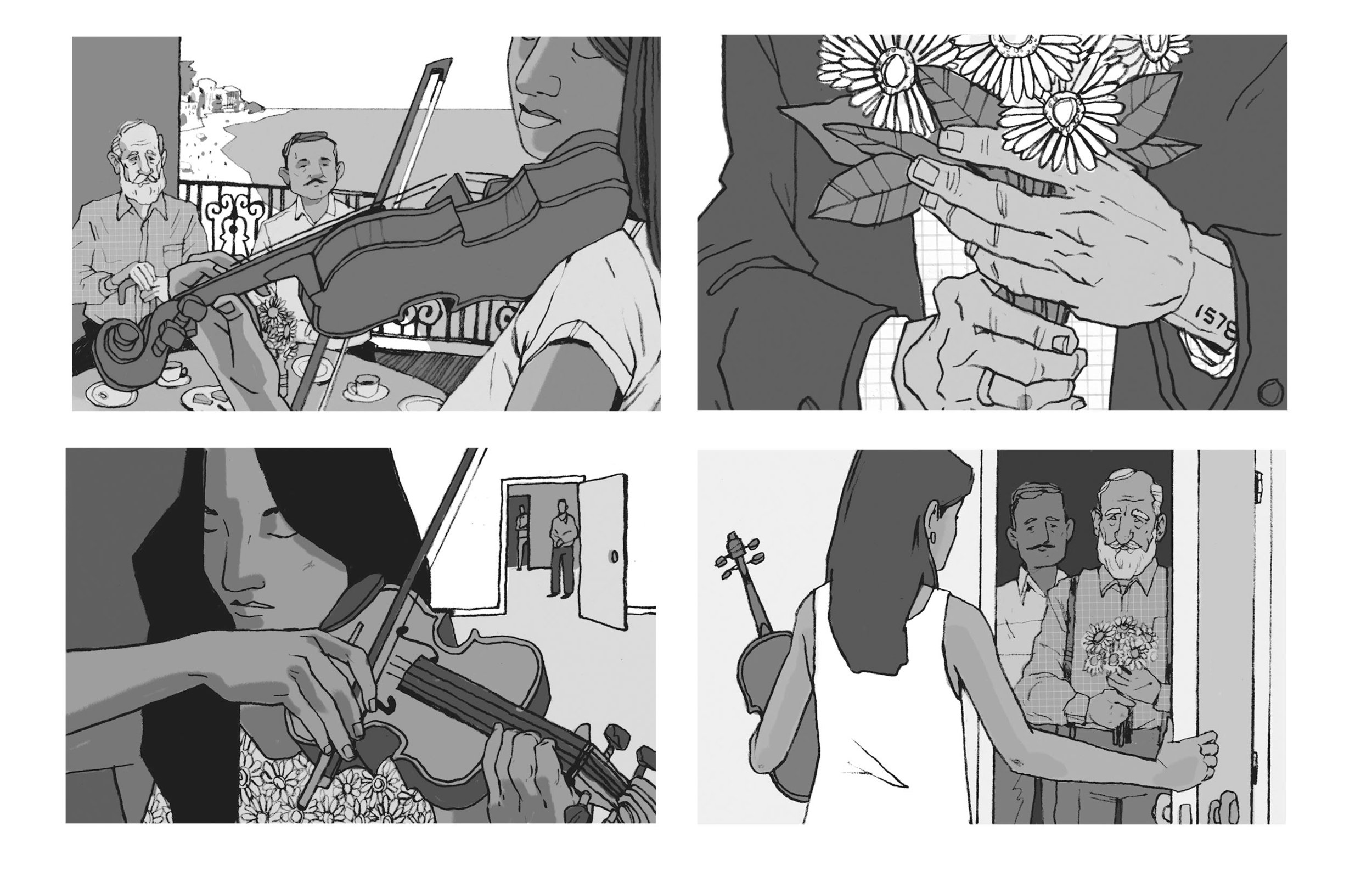 Drew Bardana - Hotel Albergue Sketches