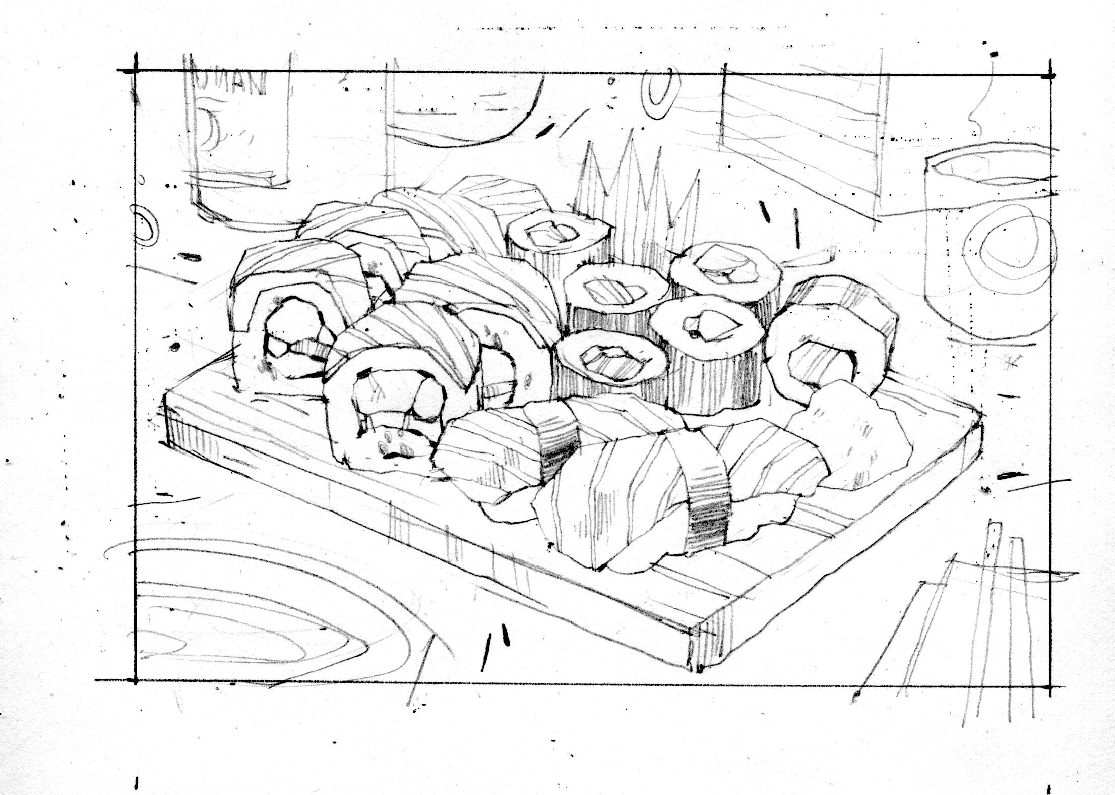 sushi sketch