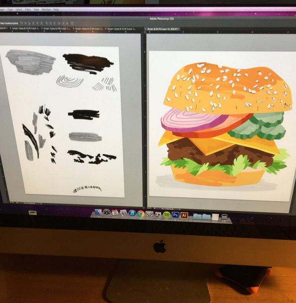 burger process shot