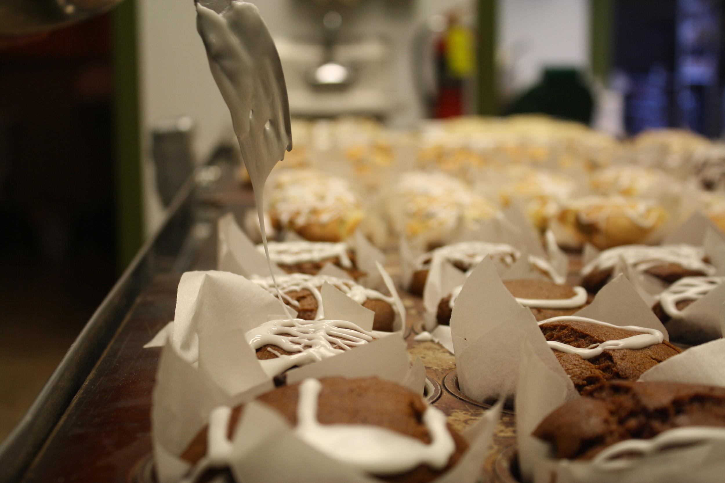 Icing Pumpkin Muffins