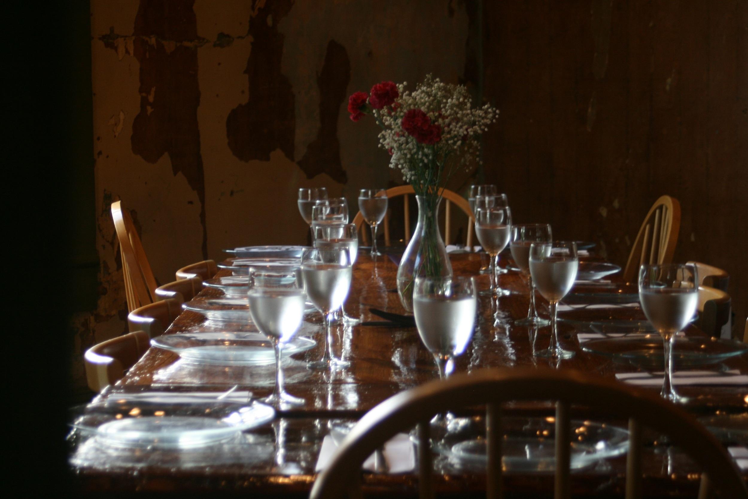 Farm Table for 16