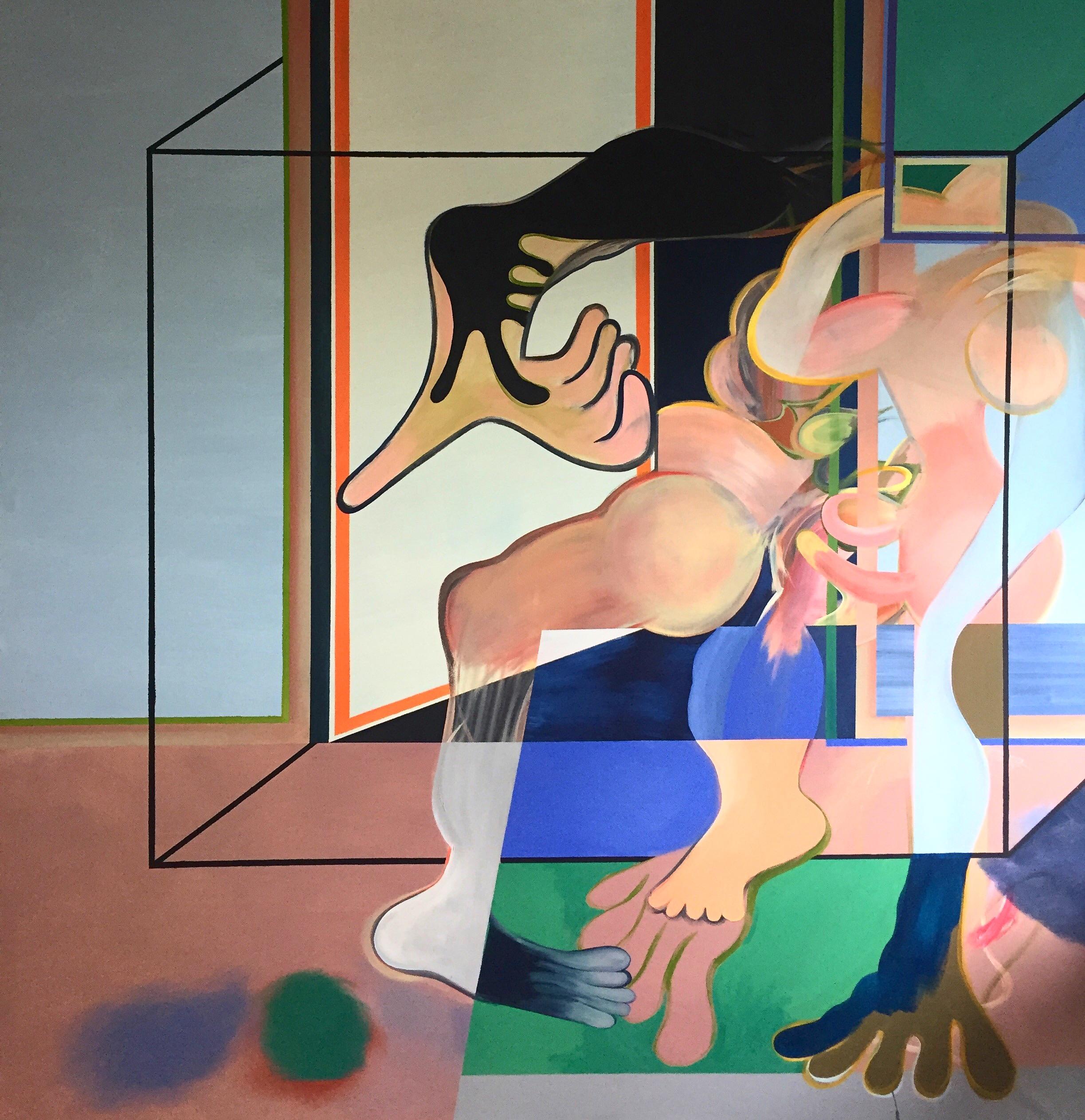 Acrylic on Canvas  61 x 60 in  155 x 153 cm