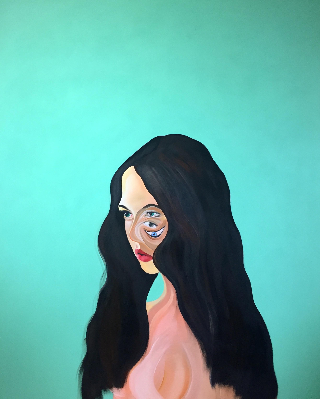 Acrylic on Canvas  64 x 52 in  163 x 132 cm