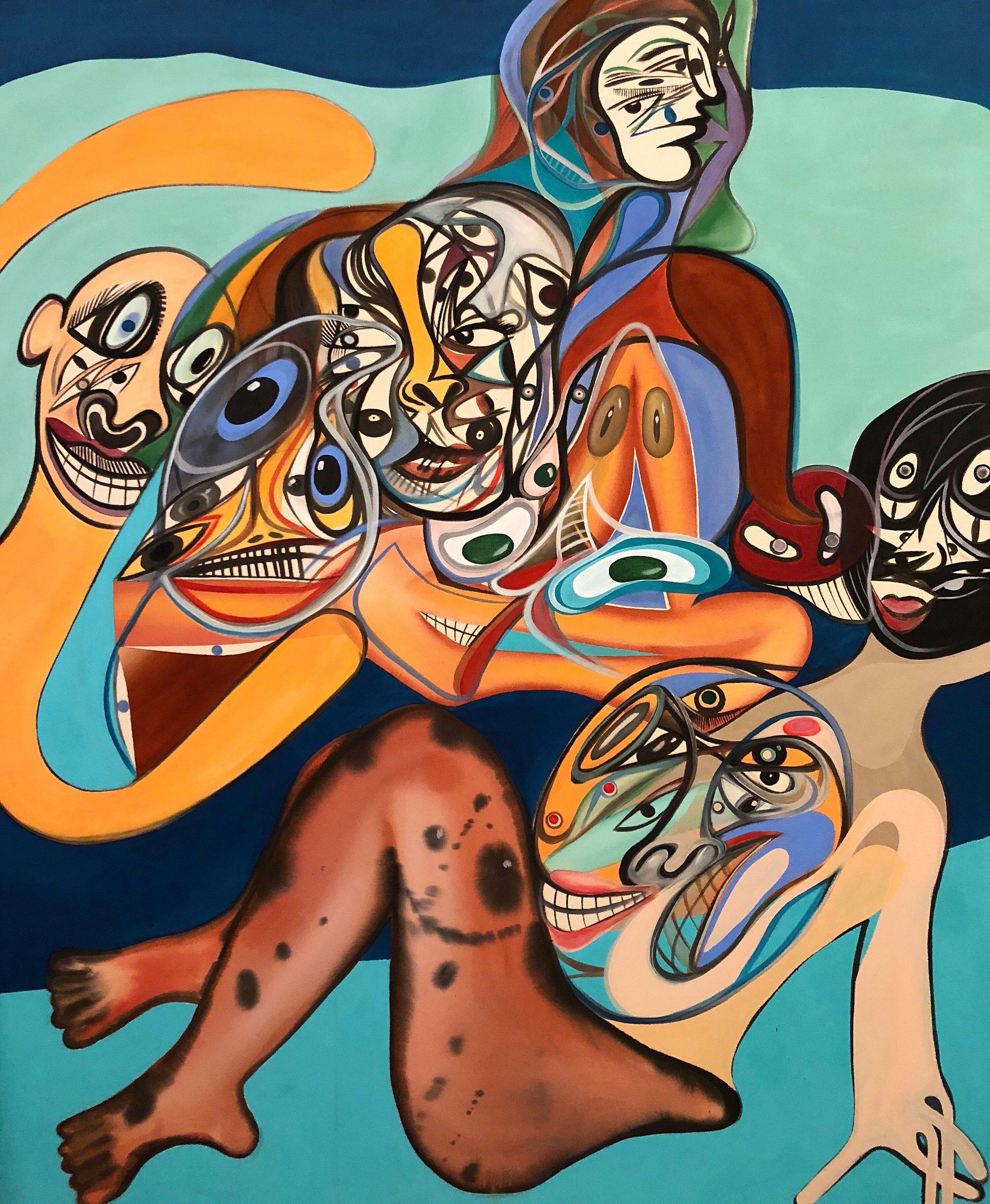 Acrylic on Canvas  54 x 46 in  137 x 117 cm