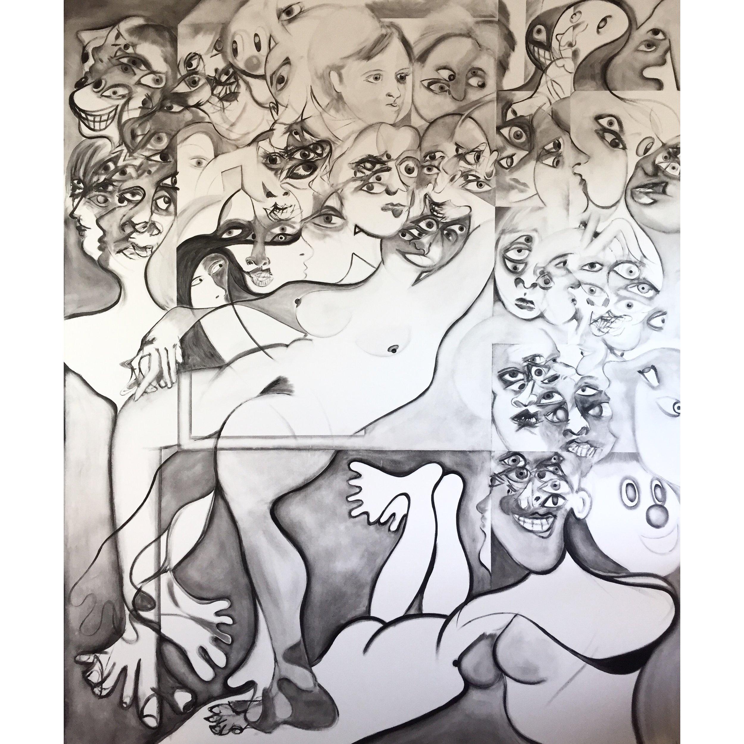 Acrylic on Canvas  70 x 60 in  178 x 152 cm