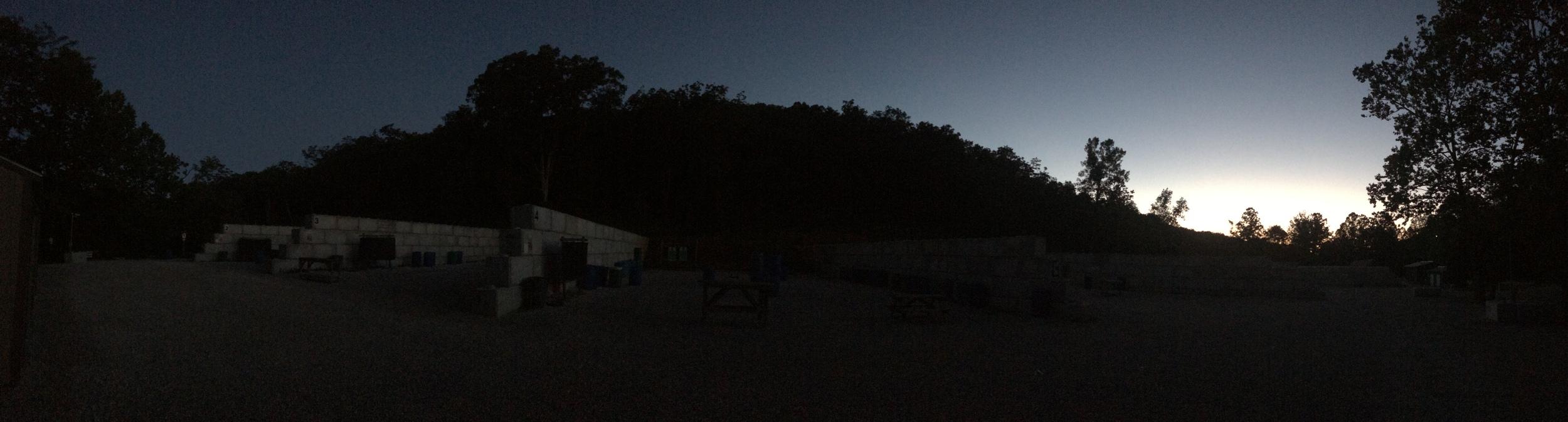 Pre-Dawn at the range!