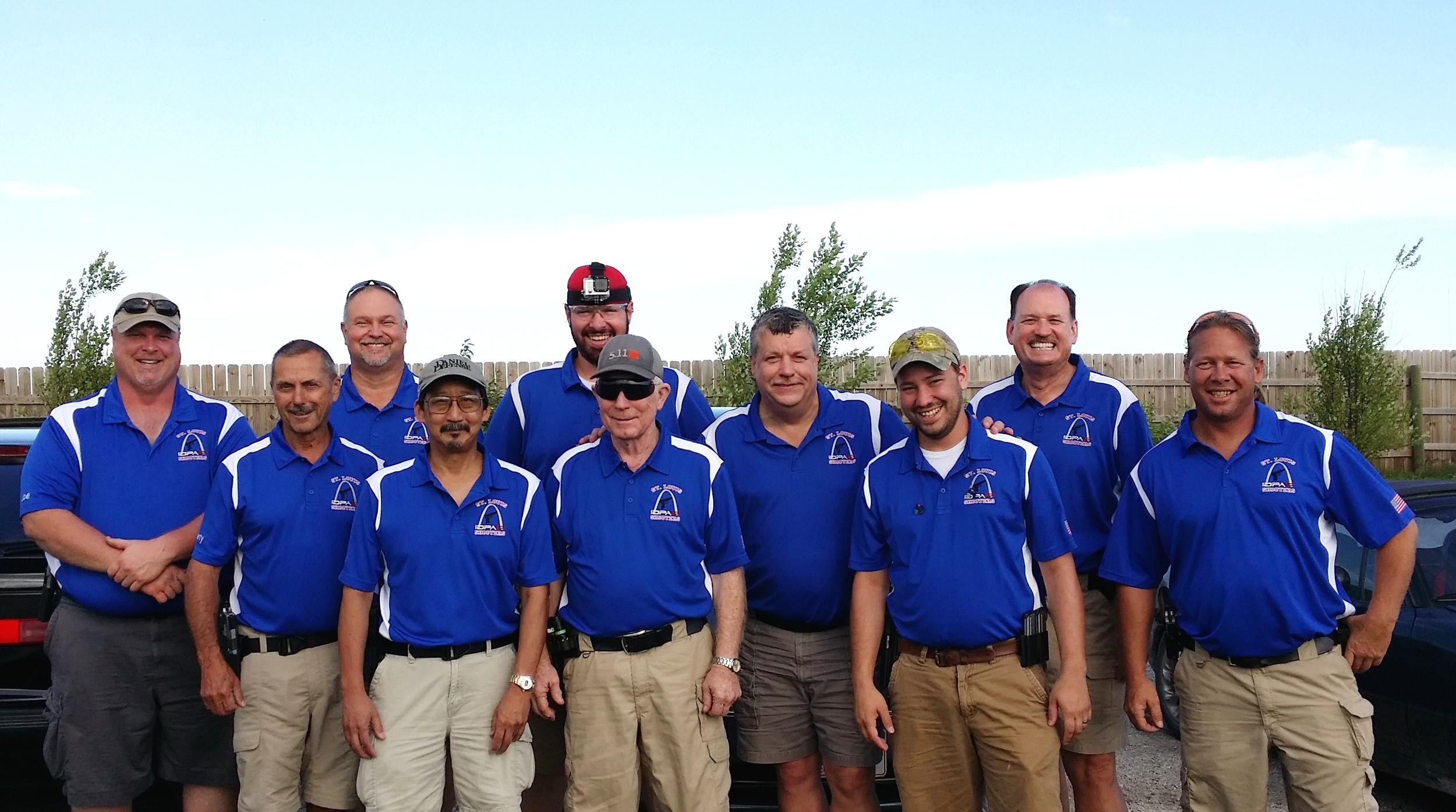ARPC IDPA at Iowa State Championship: Joe S, Jerry G, Don F, George S, Tim O, Harold C, Jere W, Brandon W, Jerry A, Glen L.