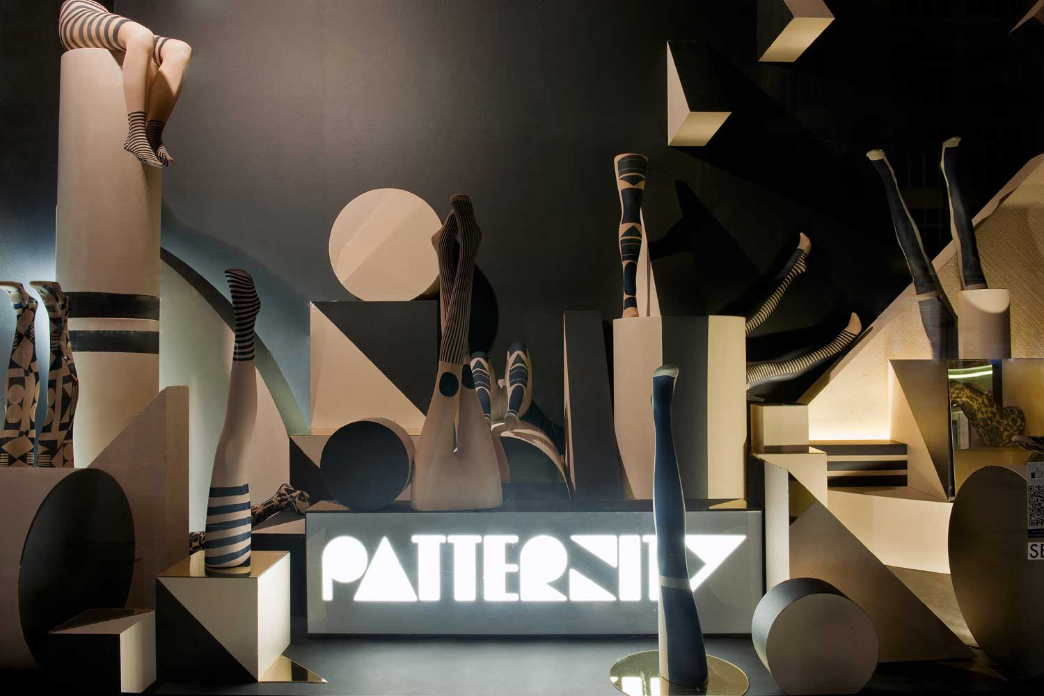 The Patternity window for Selfridges was part of the  Bright Young Things  campaign in 2011.