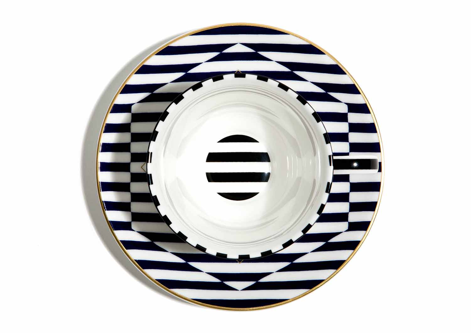 The Warp cup and saucer was designed in collaboration with London designer/entrepreneur Richard Brendon.