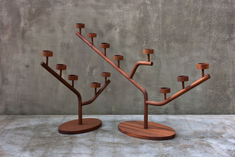 Candleholders designed by Aldo Cibic.