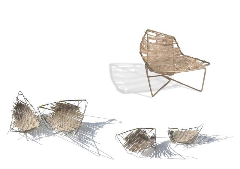 The 'Tina' chair pre-production sketches by Benedetta Tagliabue. The chair and a sofa were released by Expormim in Milan in April 2013.