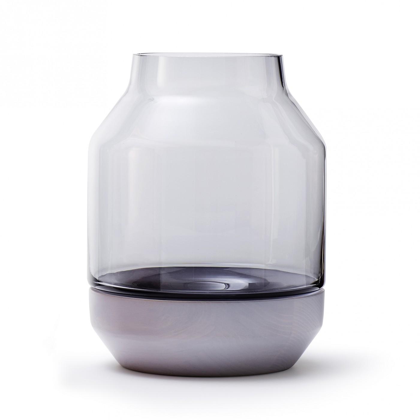 'Elevated' vase in grey