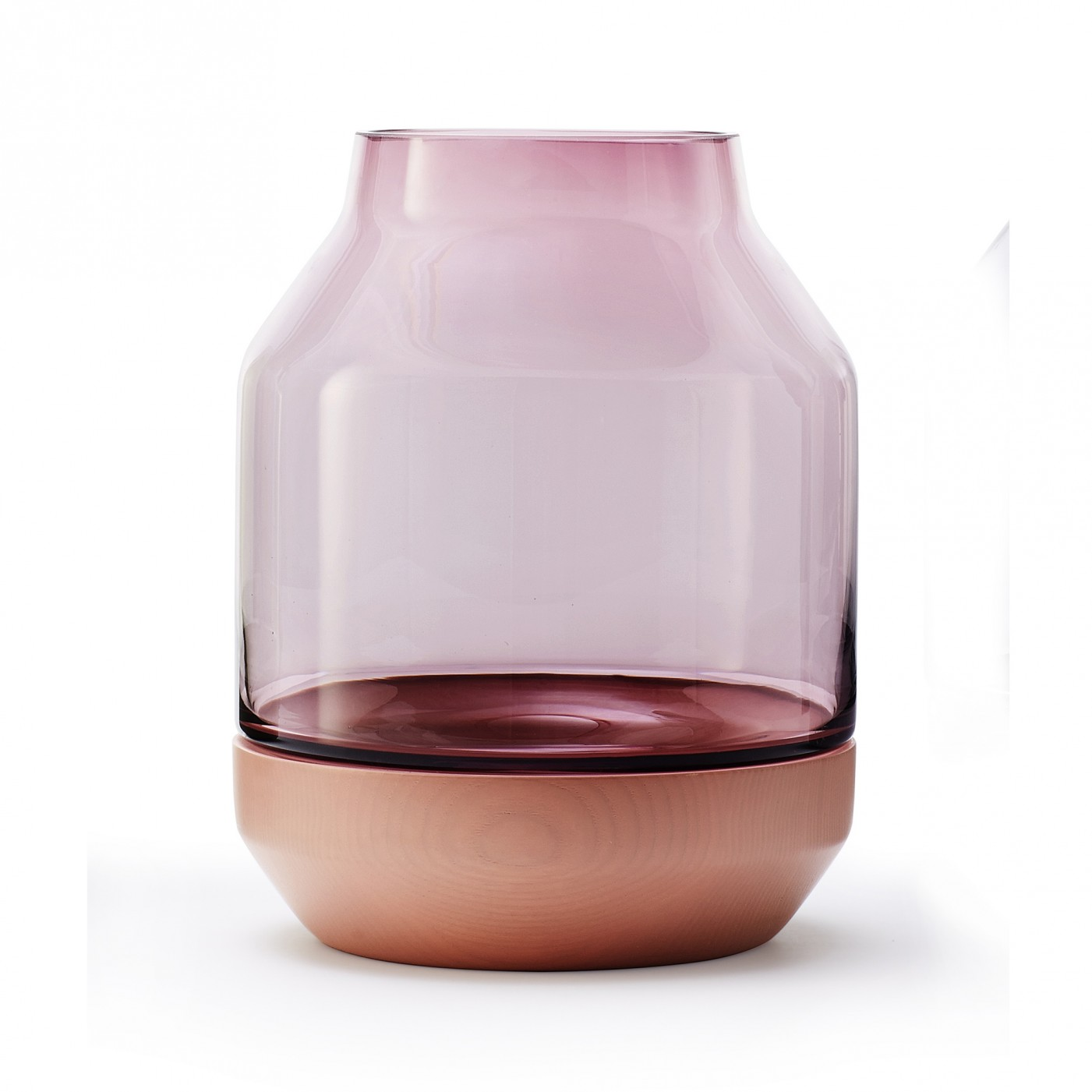 'Elevated' vase in pink.