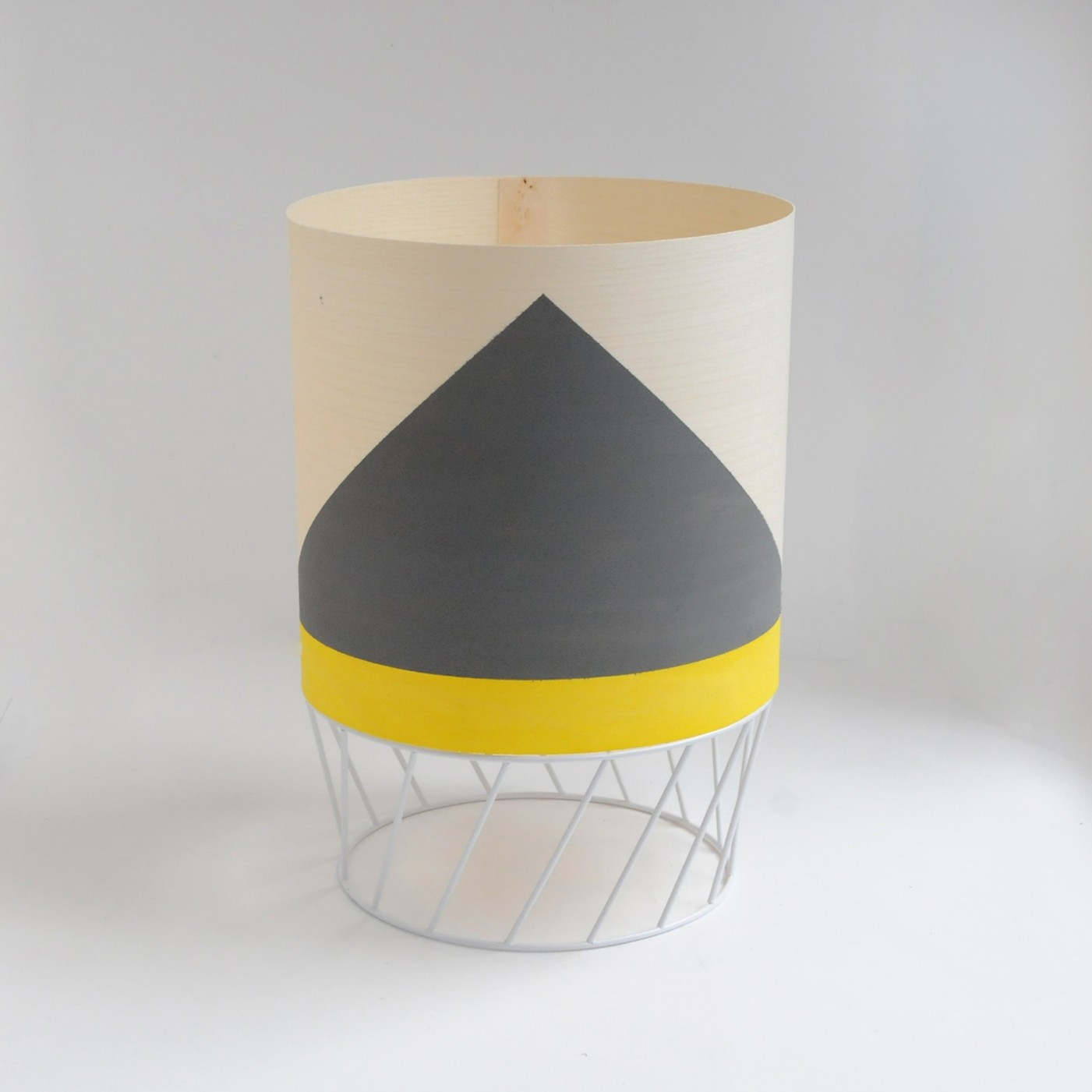 'Dowood' lamp in grey and yellow