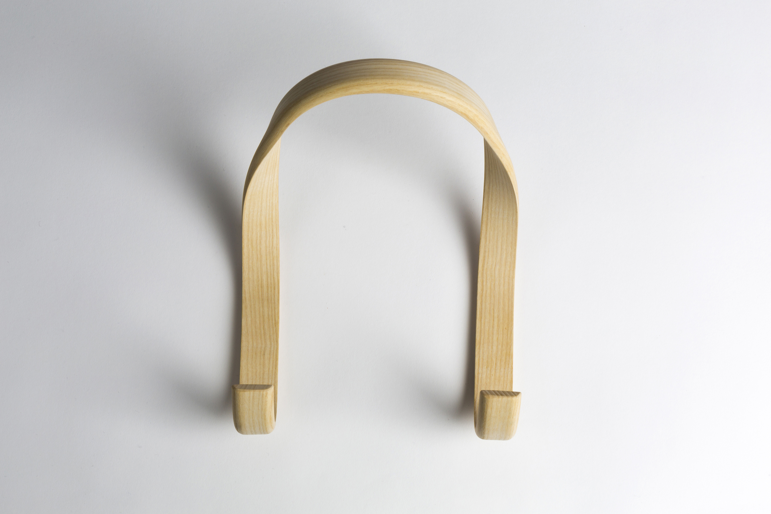 Line Depping's 'Hook' for Wrong for Hay - a new business partnership between Sebastian Wrong and Danish brand Hay. The wall mounted coat hook is in steam bent ash.