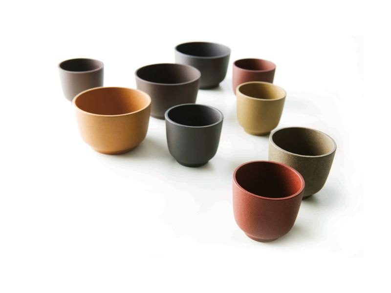 'Zisha' tea bowls produced in the highly regarded Zisha clay.