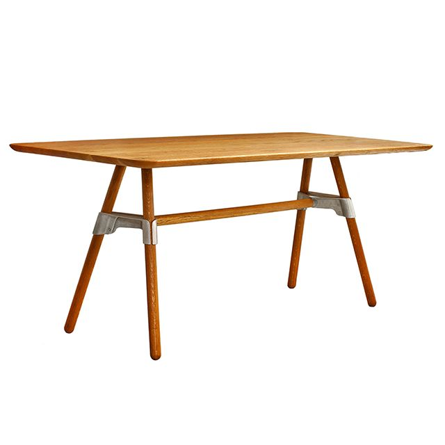 Adam Cornish and David Knott's 'Elements' table.Part of a family of products that utilize the same sand-cast aluminum joint.