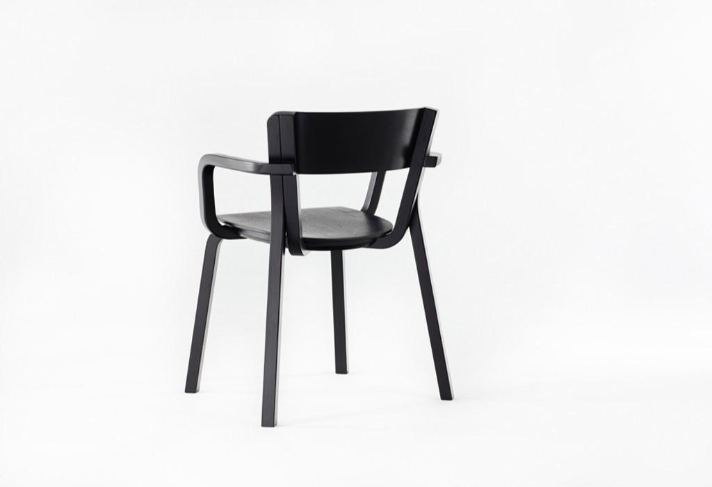 A rear view of Adam Goodrum's 'Para' chair for Dessein Furniture.
