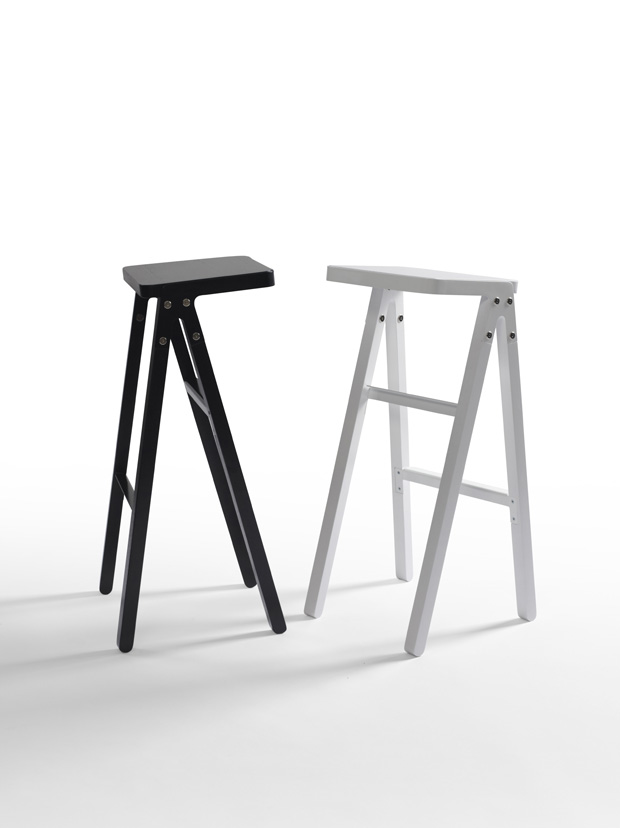 Matthew Prince's 'Lever' barstools offer a unique approach to the genre.