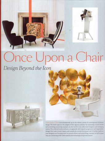 The  Once Upon a Chair  book was a much lauded publication of it's time. Bang up to date, the book  was a collection of the world's best new design talent.