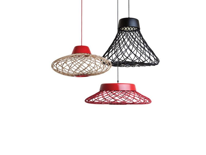 The 'Twine' pendants for Philippines brand HIve are inspired by balls of string. Made from rattan they come in four shapes.