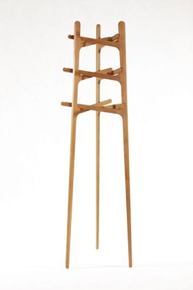 Lim's 'Interlock' coatstand consists of three individual sections that rest on each other and lock together.