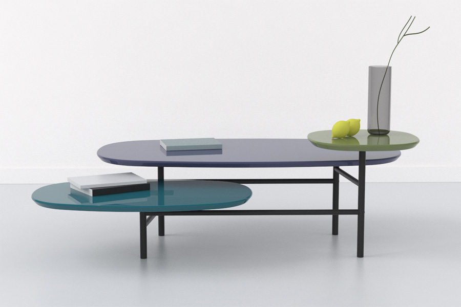 'Circus' multi-layered coffee table for was released in 2012. Photo Samuel Lehuédé.