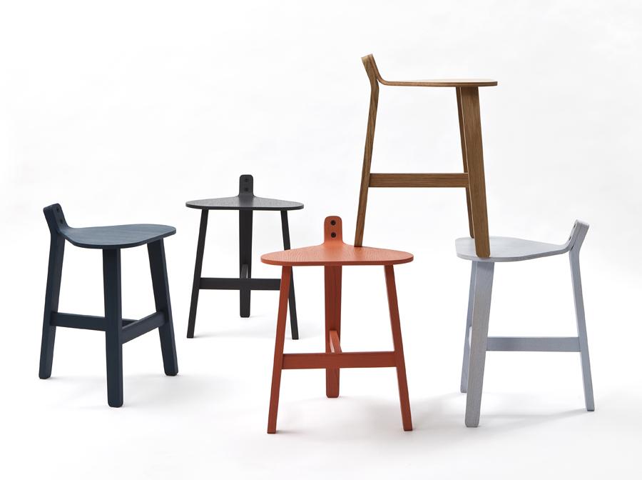 The 'Bronco' stools designed by Delvigne for Super-ette were first shown in 2012. Photo: Felipe Ribon.