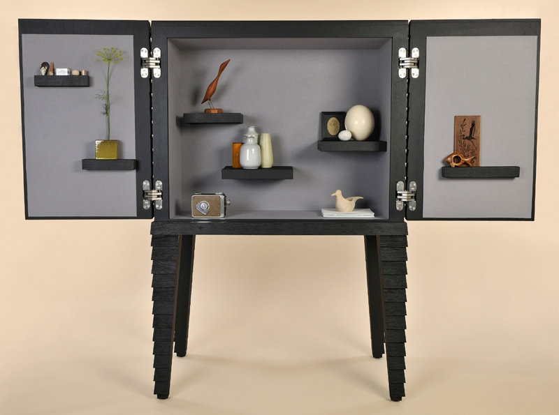 The 'Clad' cabinet by van Eijk and van der Lubbe takes a 'cabinet of curiosities' approach to storage.