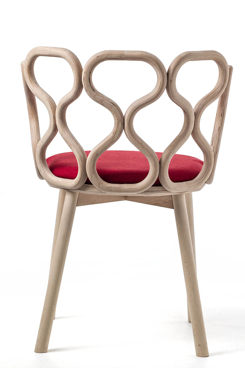 LucidiPevere's 'Gerla' chair for Very Wood - classic bentwood technique with a twist.