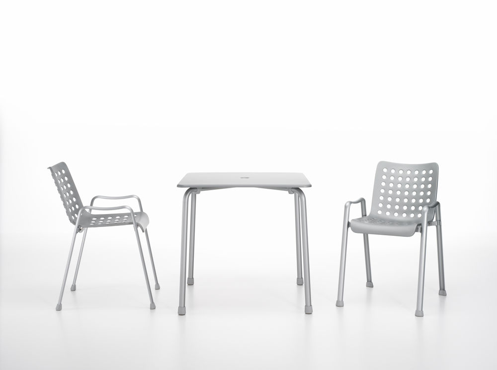 Hans Coray's classic aluminium outdoor chair 'Landi' - reissued in 2014 by Vitra.